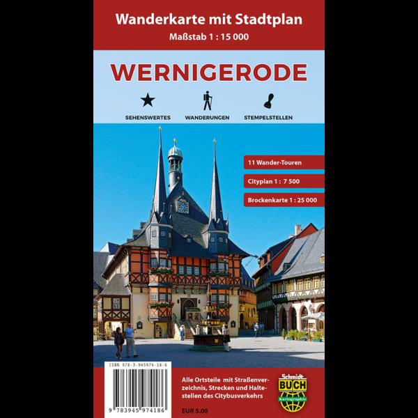 Titelbild Wanderkarte und Stadtplan Wernigerode