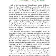 """Innenansicht des Titels """"Die schönsten Harzer Märchen und Sagen"""""""