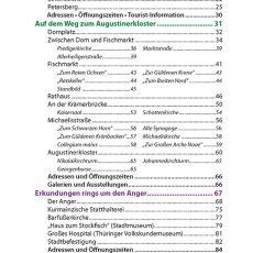 Inhaltsverzeichnis des Reiseführers Erfurt