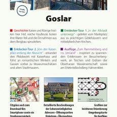 Rückseite des Reiseführers Goslar