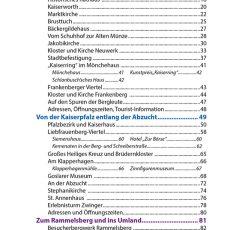 Inhaltsverzeichnis des Reiseführers Goslar