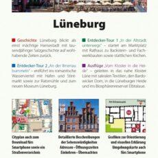 Rückseite des Reiseführers Lüneburg