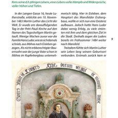 Innenansicht des Reiseführers Martin Luther