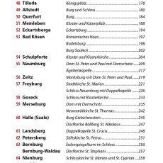 Inhaltsverzeichnis des Reiseführers Auf der Straße der Romanik