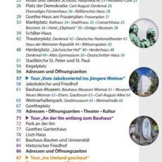 Inhaltsverzeichnis des Reiseführers Weimar