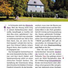Innenansicht des Reiseführers Weimar