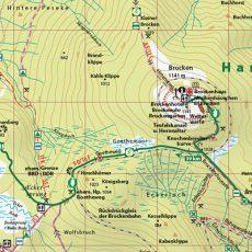 """Kartenbild der Wander- und Fahrradkarte """"Harzer Hexen-Stieg"""""""