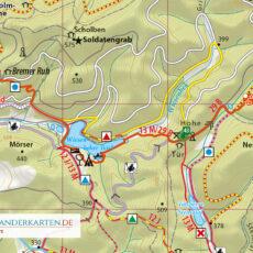 """Kartenbild der Wander- und Fahrradkarte """"Der Südharz"""""""