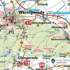 Kartenbild der Freizeitkarte Harz
