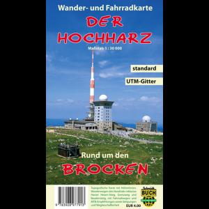 """Titelbild der Wander- und Fahrradkarte """"Der Hochharz"""""""
