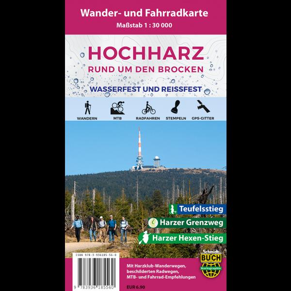 """Titelbild der Wander- und Fahrradkarte """"Der Hochharz wasserfest und reißfest"""""""
