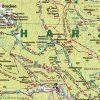 """Kartenbild der Wanderkarte """"Der Harz und Kyffhäuser"""""""