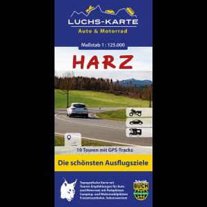 """Titelbild der Auto- und Motorradkarte """"Harz"""""""