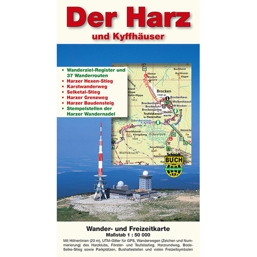 """Titelbild der Wanderkarte """"Harz und Kyffhäuser"""""""