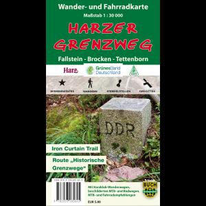 """Titelbild der Wander- und Fahrradkarte """"Harzer Grenzweg"""""""