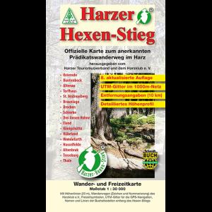 """Titelbild der Wander- und Fahrradkarte """"Harzer Hexen-Stieg"""""""