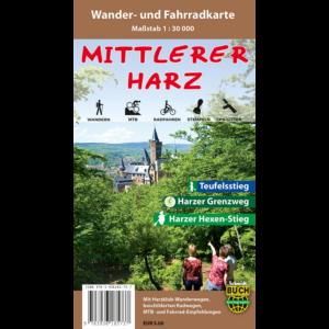 """Titelbild der Wander- und Fahrradkarte """"Der mittlere Harz"""""""