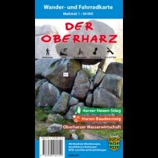 """Coverbild der Wander- und Fahrradkarte """"Der Oberharz"""""""