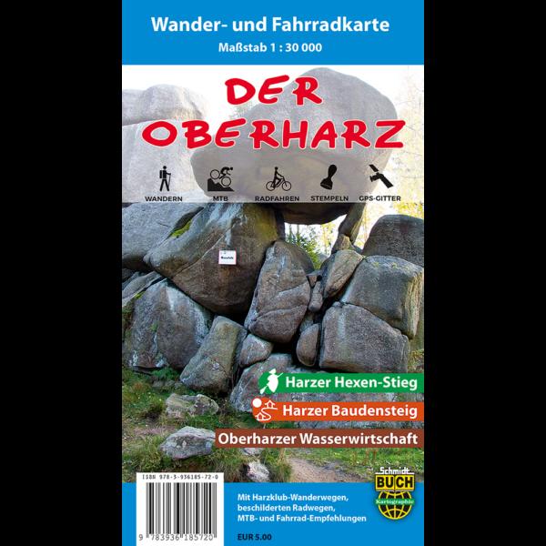 """Titelbild der Wander- und Fahrradkarte """"Der Oberharz"""""""