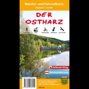"""Titelbild der Wander- und Fahrradkarte """"Der Ostharz"""""""