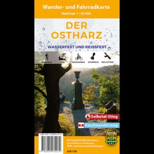 """Titelbild der Wander- und Fahrradkarte """"Der Ostharz wasserfest und reißfest"""""""