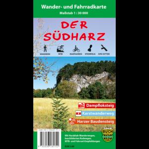 """Titelbild der Wander- und Fahrradkarte """"Der Südharz"""""""