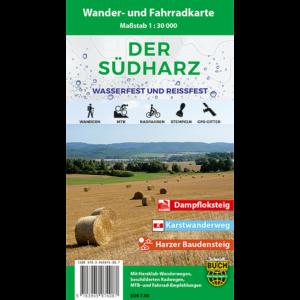 """Titelbild der Wander- und Fahrradkarte """"Der Südharz wasserfest und reißfest"""""""