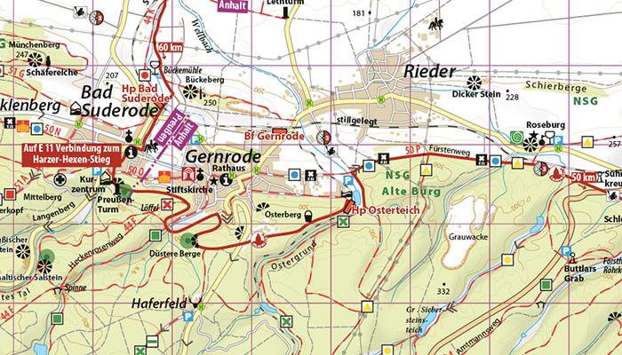 Kartenbild Selketalstieg