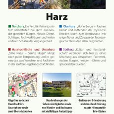 Backcover des Reiseführers Harz
