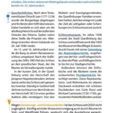 Innenansicht des Reiseführers Quedlinburg
