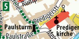 Cityplan Erfurt