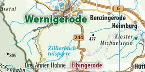 Übersichtskarte aus dem Reiseführer Harz