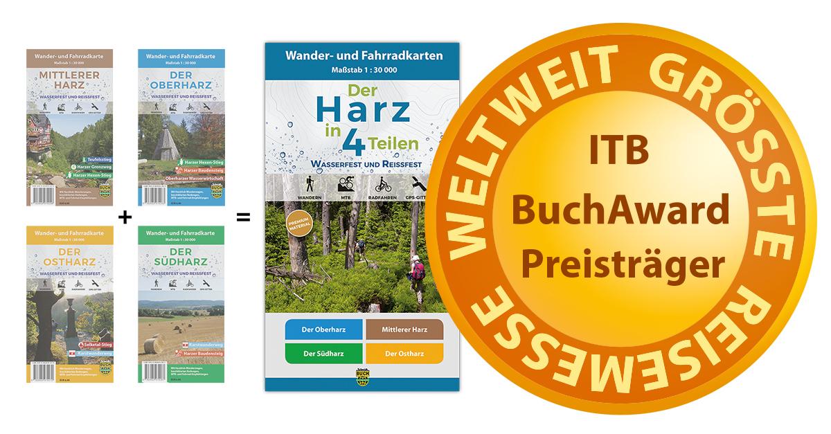 """ITB BuchAward für das Kartenset """"Der Harz in 4 Teilen"""""""