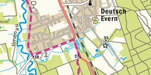 Umgebungskarte Lüneburg