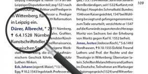 """Personenregister aus dem Reiseführer """"Der Reformator Martin Luther"""""""