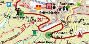 """Umgebungskarte aus dem Reiseführer """"Quedlinburg - Der Stadtführer"""""""