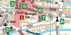 """Stadtplan aus dem Reiseführer """"Quedlinburg - Der Stadtführer"""""""