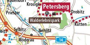 """Karte aus dem Reiseführer """"Auf der Straße der Romanik"""""""