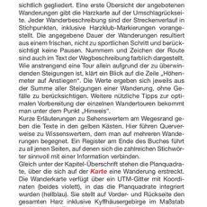 """Seite 6 aus dem Wanderführer """"Wandern im Harz"""""""