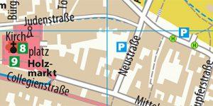 Stadtplan Wittenberg