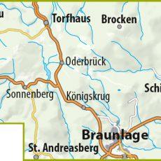 Blattschnitt der MTB-Trail-Karte Braunlage – Schierke – St. Andreasberg – Torfhaus