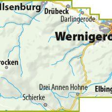 Blattschnitt der MTB-Trail-Karte Wernigerode – Ilsenburg – Schierke – Brocken