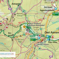Kartenbildmuster der offiziellen Karte zum Harzer Hexen-Stieg (wetterfest)