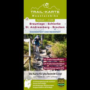 Titelbild der MTB-Trail-Karte Braunlage – Schierke – St. Andreasberg – Brocken