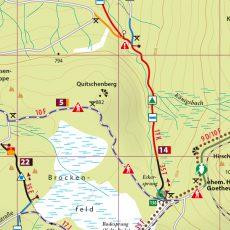 Kartenbildmuster der MTB-Trail-Karte Braunlage – Schierke – St. Andreasberg – Brocken