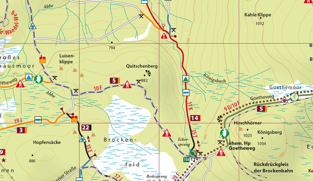 Kartenbildmuster der MTB-Trail-Karte Braunlage - Schierke - St. Andreasberg - Brocken