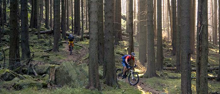 Mountainbiker an der Sonnenklippe