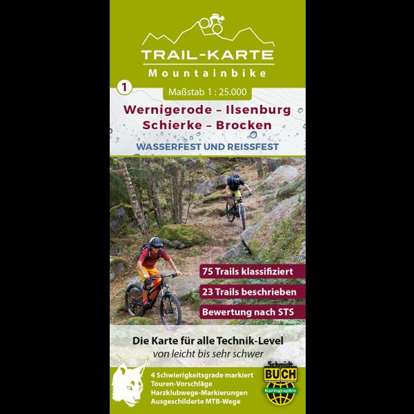 Titelbild der MTB-Trail-Karte Wernigerode - Ilsenburg - Schierke - Brocken