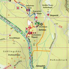 Kartenbildmuster der MTB-Trail-Karte Wernigerode – Ilsenburg – Schierke – Brocken