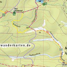 """Kartenbild Wander- und Fahrradkarte """"Ostharz"""" (2017)"""